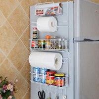Kitchen Multipurpose Refrigerator Side Storage Rack Side Shelf Rack Organizer Sidewall Fridge Multi-layer Holder Kitchen Storage
