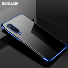 For Xiaomi Mi 9 SE Case Cover Transparent Plating TPU Soft Silicone Back Cover for Xiaomi Xiao Mi9 SE 8 Lite Case Phone Coque стоимость