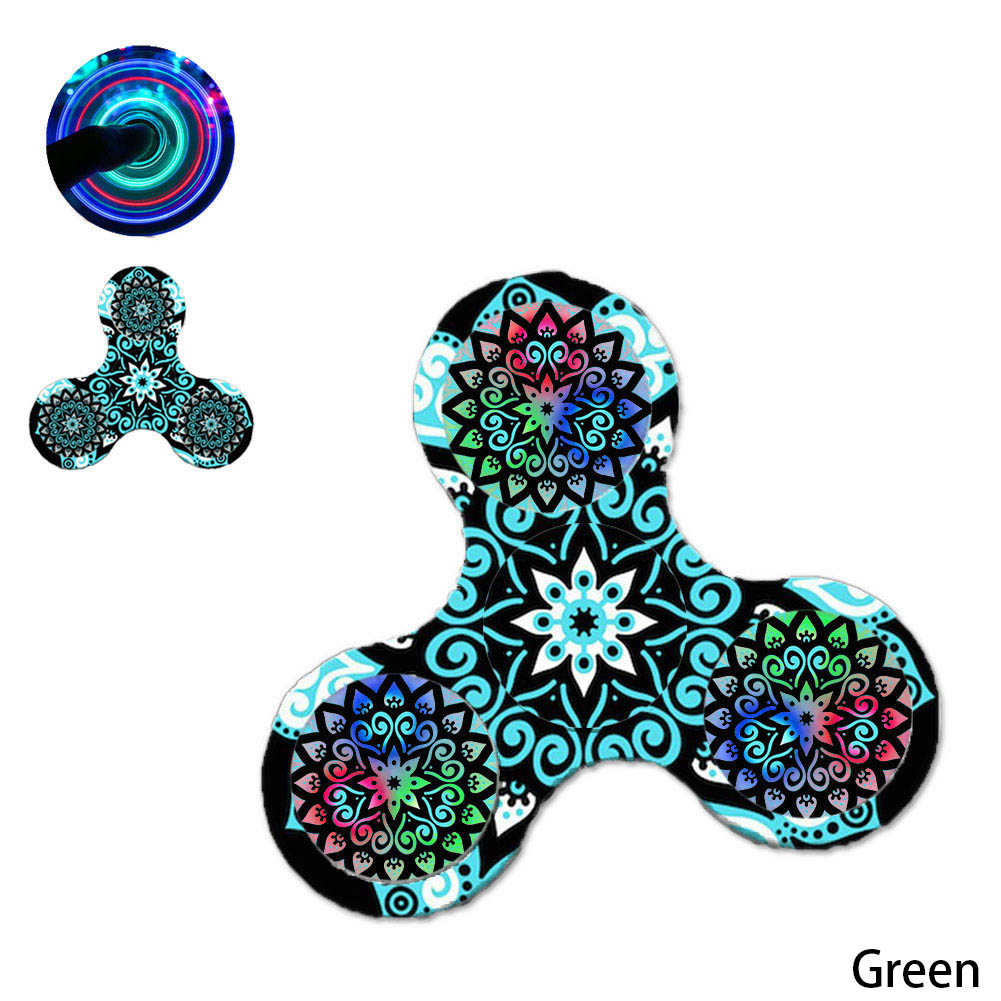 2017 Hot Court Pattern Light Fidget Spinner ADHD Stress Relief Toy For Kids With Autism Quality Control