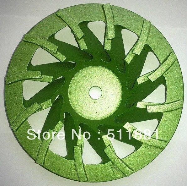 7 ''diamant meule meule plaque   180mm béton meulage disque pour meuleuse d'angle   30 # grain Tornado disque, enlèvement de copeaux rapide