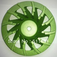 7'' Diamond grind CUP Wheel Plate | 180mm Concrete grinding disc for angle grinder | 30# grit Tornado disc, chip removal FAST