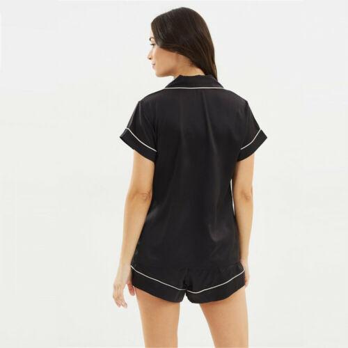Women's Casual Short Sleeved Silk Pajamas