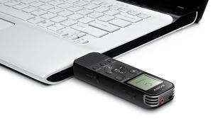 Image 2 - Pełna nowa Sony ICD PX470 Stereo dyktafon cyfrowy z wbudowanym USB dyktafon