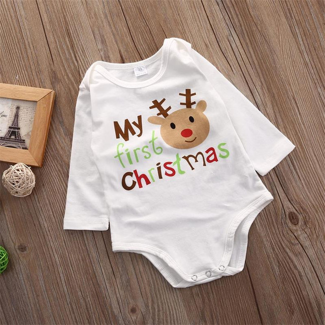 Newest Baby Clothes Girls Romper Newborn Jumpsuit Cartoon Deer Elk Designer Children Clothing Boy Outfit Christmas Costume A121