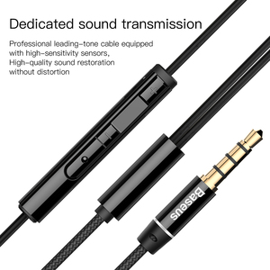 Image 4 - Baseus H06 3.5 mm Wired Earphone with Microphoe Stereo Headset for iPhone 6 6s Plus Earphone for Samsung S10 Earbuds Earphone