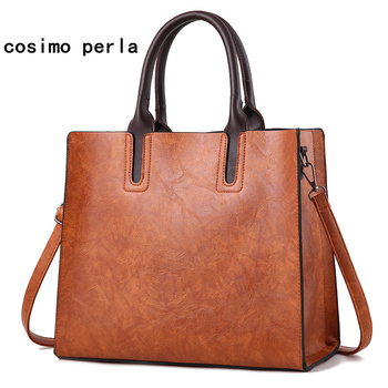 Simple Fashion Square Tote Handbags Luxury Brand Designer Leather Causal Work Bags for Women 2018 Large Messenger Bags Shopper grande bolsas femininas de couro