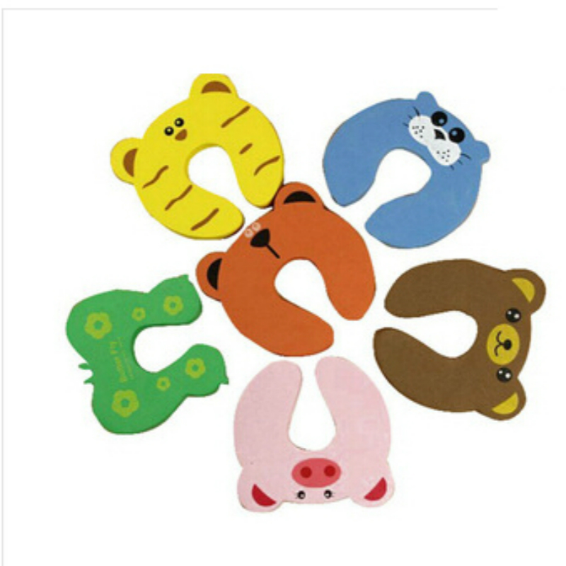 5pcs Kids Baby Cartoon Animal Jammers Stop Edge Corner for Children Guards Door Stopper Holder Lock Safety Finger Protector