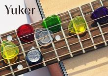 Yuker 1Pcs Cool Durable Transparent Acoustic Electric Guitar Bass Ukelele Picks Plectra Plectrum Colorful Guitar pick random