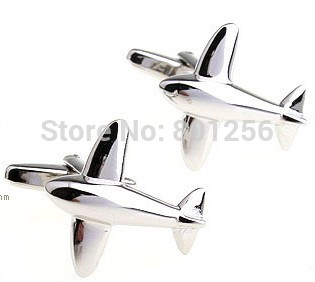Promotion!! Boutons de manchette avion couleur argent mode conception - Bijoux fantaisie - Photo 5