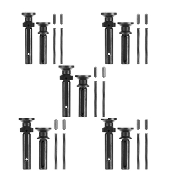 Magorui 5PCS Mil-Spec .223/5.56 .308/7.62 Extended Take Down Pivot Pins w/ Detent and Spring
