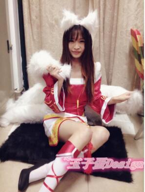 Lol Ahri Cosplay Tail Anime The Nine Tailed Fox Ahri Sexy Women Cosplay Costume in Movie TV costumes from Novelty Special Use