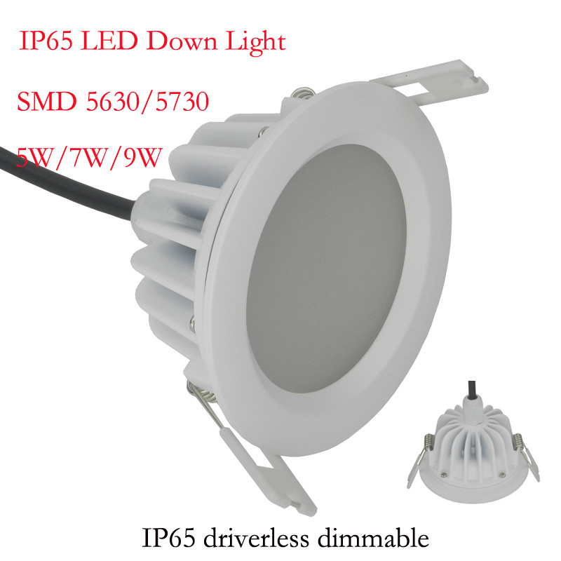 1pcs/lot Driverless Led Downlights LED ceiling Downlight Lamps 5W 7W 9W 12W 15W 20W 25W 30W AC220V 230V 240V Led Down light Lamp