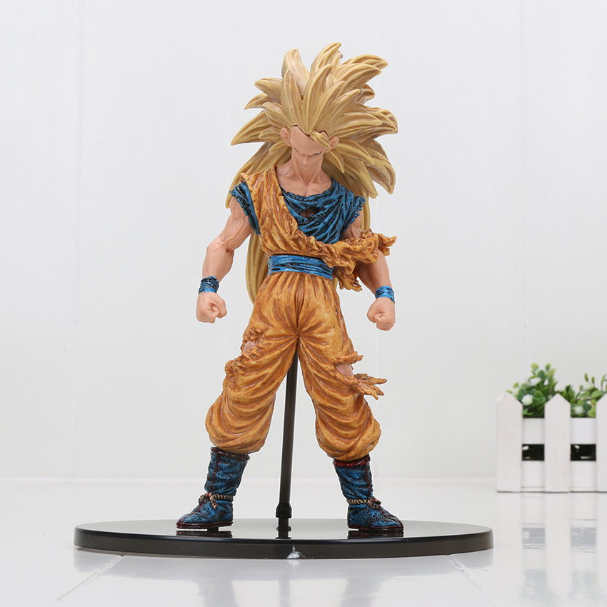 Dragon ball Z Super Saiyan 3 Battle Damaged Edition Son Goku Kakarotto PVC action figure Collectible Model toys 6pcs set dragon ball z son goku vegeta broly kakarotto battle ver pvc action figures dragonball figure toys collection model toy