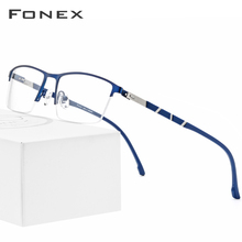 Montura de aleación para gafas de hombre ultraligera media cuadrada, gafas graduadas para miopía, gafas de silicona 2019, monturas ópticas sin tornillos