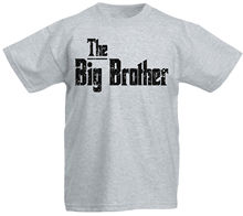 The Big Brother Awesome Word Text Family Birthday Party Children Kids Funny Tops Tee New Unisex freeshipping
