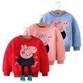 Niñas llanura sudadera moleton infantil kids conejo invierno cálido lleno de Niños suéter 2016 pullover enfant fille 5ans