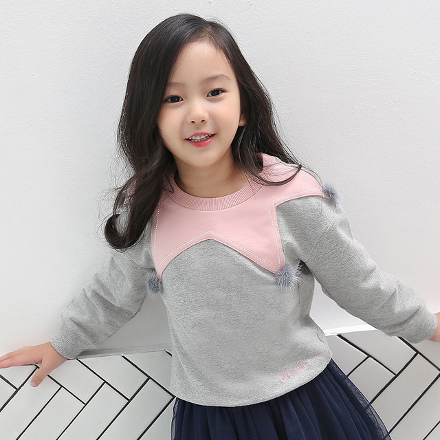 ecec2e242 Brand Girls spring autumn cotton T-shirts Children clothes for young girl 2  3 4