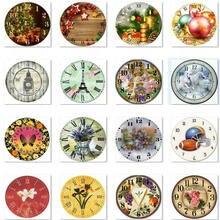 5D алмазная вышивка крестиком настенные часы цветы животные 3d Алмазная вышивка Стразы мозаика украшение дома 40x40 см