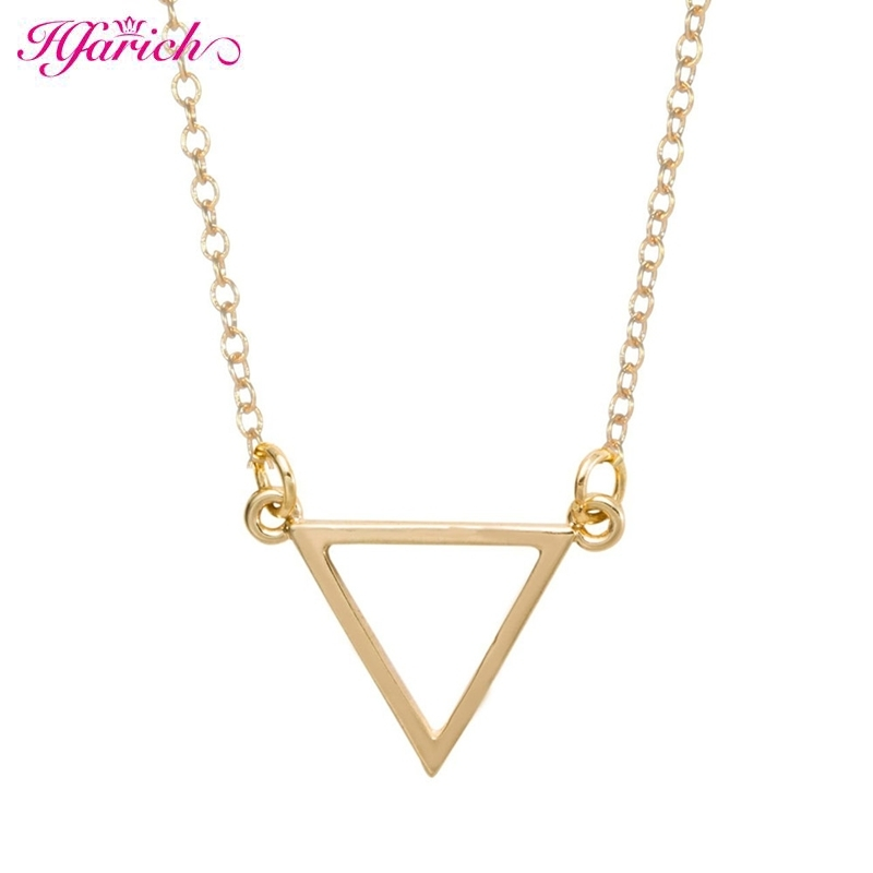 New Fashion Gold Triangle Necklace geo geometric shape bridesmaids gift mothers valentines day statement necklace EY-N068