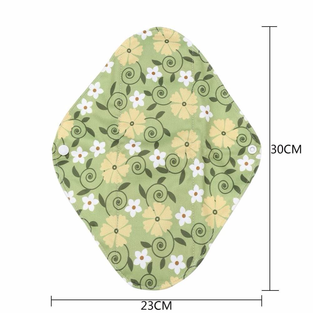 1Pcs New Reusable Menstrual Pads Washable Lady Cloth Pad Panty Liner 9 Types Bamboo Charcoal Cloth Mama Sanitary Menstrual Pads