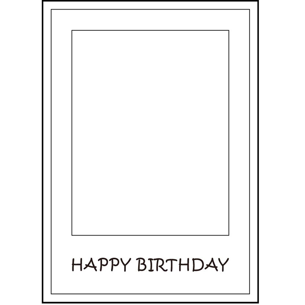1pcs Happy 21st Birthday Anniversary Paper Photo Booth Props Picture Selfie Frame White
