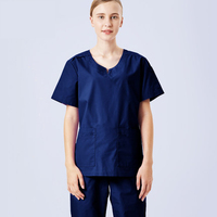 Short Sleeve Women Scrubs Sets Medical Doctors Tops and Pant Clothes Hospital Dental Clinic Beauty Salon Workwear Uniforms