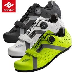 Santic 2019 nowy Zapatillas Ciclismo oddychająca buty rowerowe mężczyźni odblokowany rower jazda na rowerze buty Ultralight Sport buty jeździeckie w Buty rowerowe od Sport i rozrywka na
