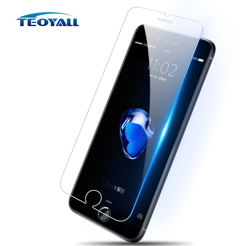 TeoYall 0.26mm Tempered Glass For IPhone 8 7 6 6s Plus 5s 5 SE Glass Anti-Shock Screen Protector For IPhone 7Plus 8 X Glass Film