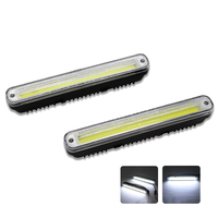 2Pcs Set SUNKIA DRL Car Daytime Running Light LED Day Lamp With On Off Function 100