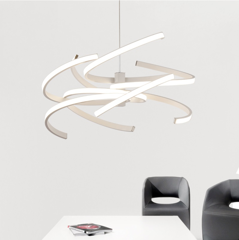55Watt Contemporary Rectilinear Ceiling Lamps For Dinning Room, Commerical Space