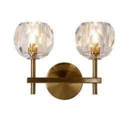 BEIAIDI nowoczesne minimalistyczne lampy kryształowe ściany żelaza przedpokój badania przejściach i korytarzach korytarz światła na ścianie lustro przednie światło sypialnia lampki nocne kinkiety ścienne
