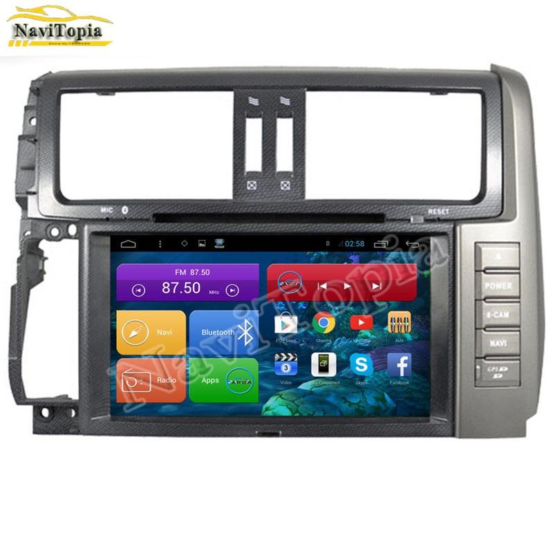 NAVITOPIA 8 Inch Quad Core 2G RAM Android 6.0 Car DVD Radio Multimedia Player GPS Navigation for Toyota Prado 150 2010-2013