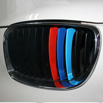 Car styling ///M Sports Front Grille Sticker For BMW 1 2 3 4 5 6 7 series X3 X4 X5 X6 E30 E46 E84 E90 E60 E61 F10 F11 F12 F01 image