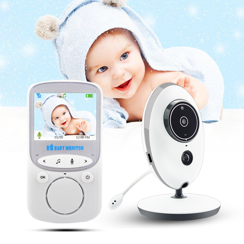 VB605 Wireless Video Baby Monitor 2,4 zoll Farbe Sicherheit Kamera Intercom IR 24 h Baby Walkie IR LED Tragbare Baby kamera