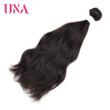 UNA Malaysian Human Hair Bundles 1 Piece Pack Natural Hair Natural Wave Non-Remy Hair Weft Human Hair Weave Bundles 8-26 inches(China)