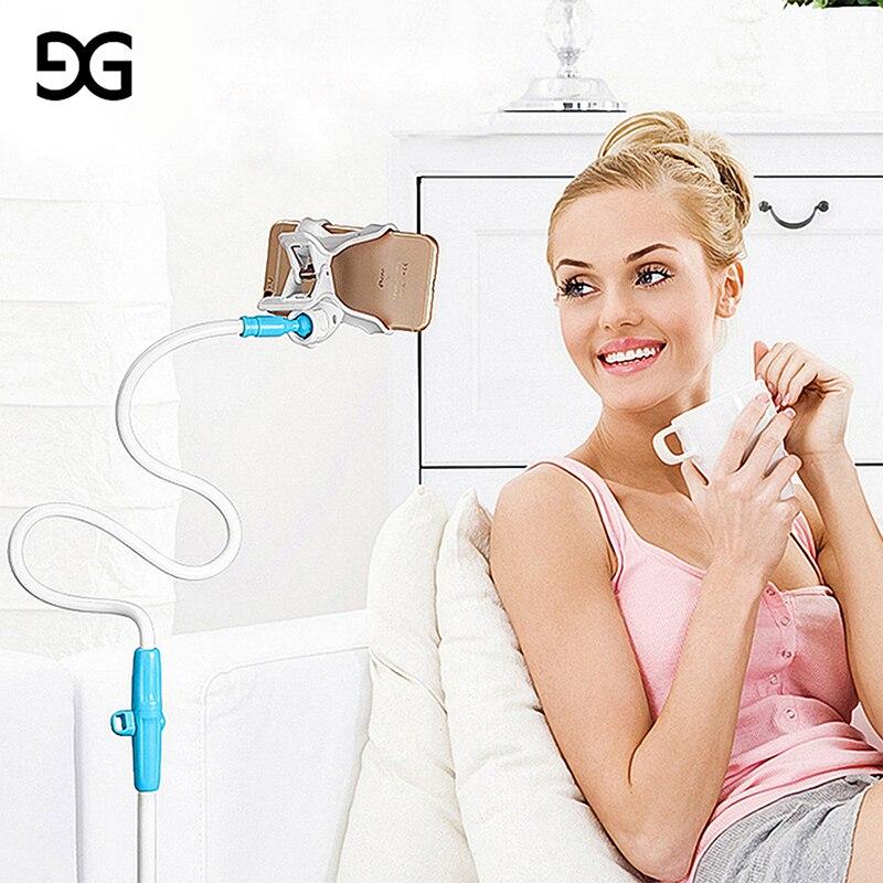 GUSGU 360 Degrés Rotation Flexible Support de Téléphone Pour iPhone Universel Bras Long Table Support Téléphone Stand Pour iPhone/Samsung/Xiaom