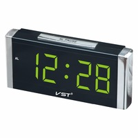 731 rectangular cube digital alarm clock Large digital led display desktop clock home luminous table clock with EU plug