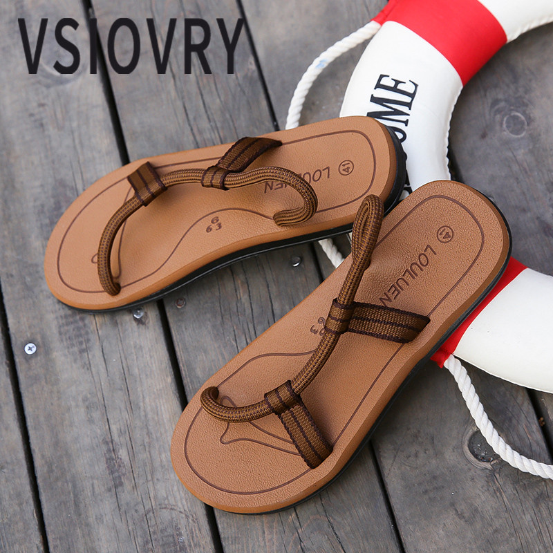VSIOVRY New Men Sandals Summer 2018 Elastic Rope Roma Style Beach Sandals Fashion Unisex Casual Shoes Outdoor Sandalias For Men цена 2017