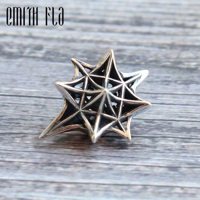 Emith Fla Genuine 925 Sterling Silver Stars Charm Bead Fit for Original Bracelet Jewelry Beads for Jewelry Making DIY Authentic