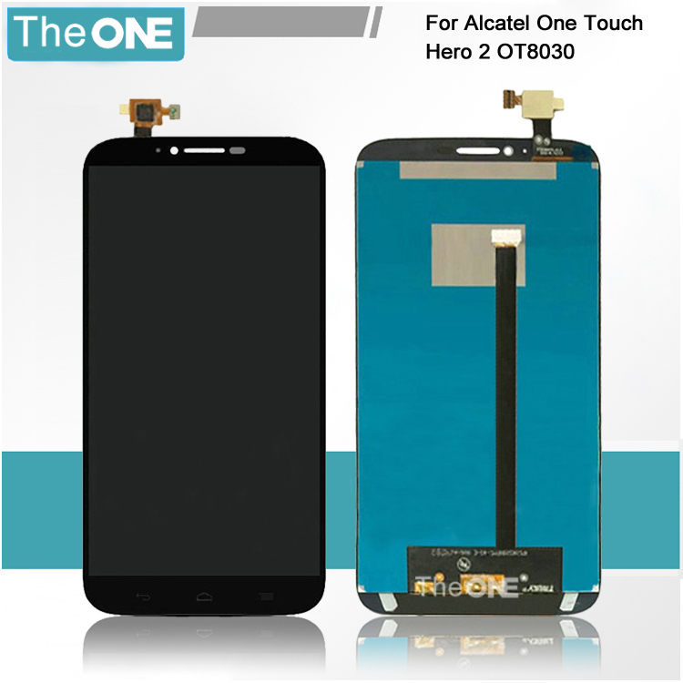For Alcatel One Touch Hero 2 8030 8030B 8030Y LCD Screen Display + Touch Screen Digitizer Assembly Free Shipping