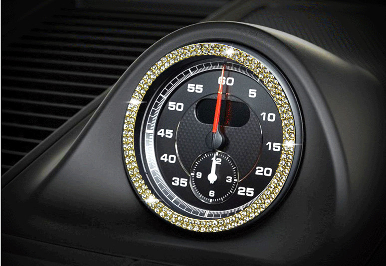 Car Console Clock Watches Time Decoration Ring Cover Car styling For Porsche 911 Cayenne Panamera Macan Boxster Cayman|Car Stickers| |  - title=