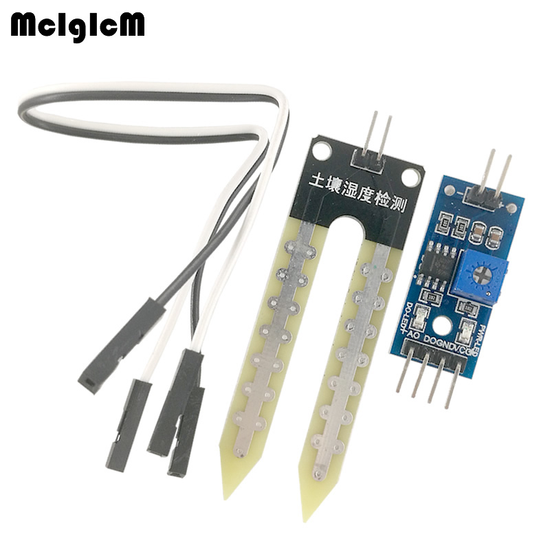 MCIGICM Soil Hygrometer Humidity Detection Module Moisture Water Sensor Soil moisture-in Integrated Circuits from Electronic Components & Supplies