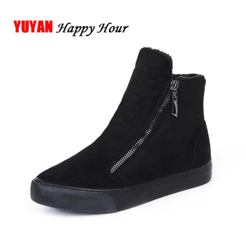 2019 Winter Snow Boots Women Winter Shoes Zip Warm Plush for Cold Winter Fashion Women's Boots Sweet Ladies Brand Ankle Botas