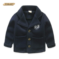 Boys Jacket Autumn New Fashion Brand Children Clothing Solid Single Breasted Kids Suit Coat Formal Badge