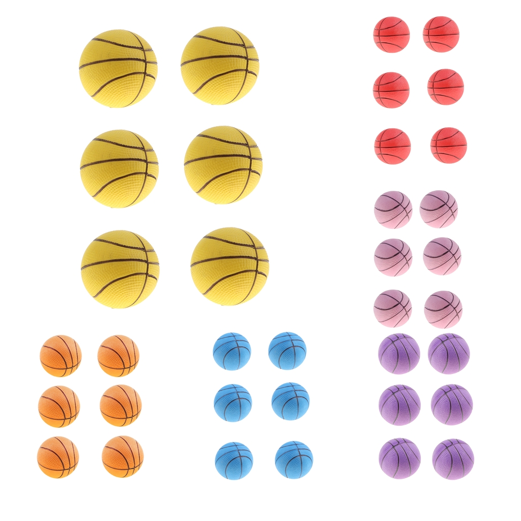6pcs Mini Bouncing Jumping Ball Indoor Outdoor Kids Pretend Play Mini Basketball Ball Game Party Bag Fillers Kid Pet Toy Gifts
