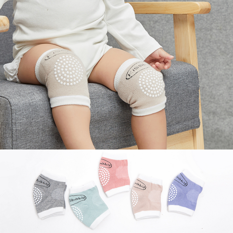 Baby Crawling Kneepad Safety Cotton Anti-Slip Infant Toddler Leg Elbow Protector