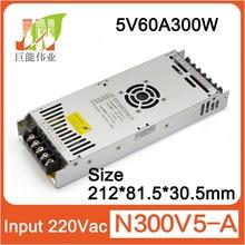 Fuente de alimentación de pantalla LED ultrafina 5V60A300W, tamaño: 212x83x30, fuente de alimentación de pantalla LED P10 P16 a todo color para interior y exterior