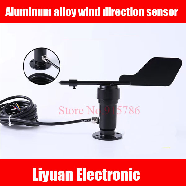 Aluminum alloy wind direction sensor DC12 24V metal anemometer 0 5V 4 20MA output wind speed