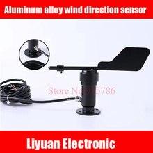 Aluminum alloy wind direction sensor / DC12 24V metal anemometer /0 5V 4 20MA output wind speed transmitter for weather station