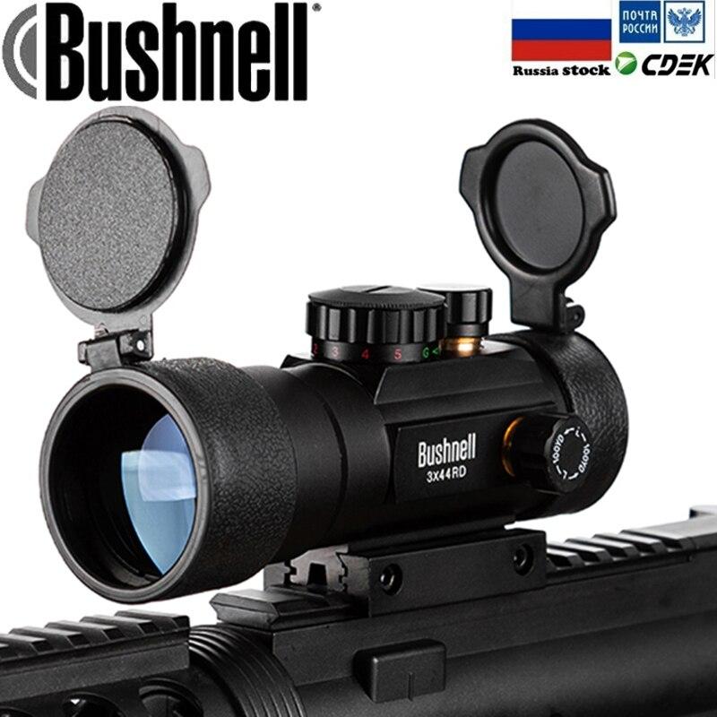 3X44 verde rojo punto de vista alcance óptico táctico rifloscopio ajuste 11/20mm riel Rifle de caza